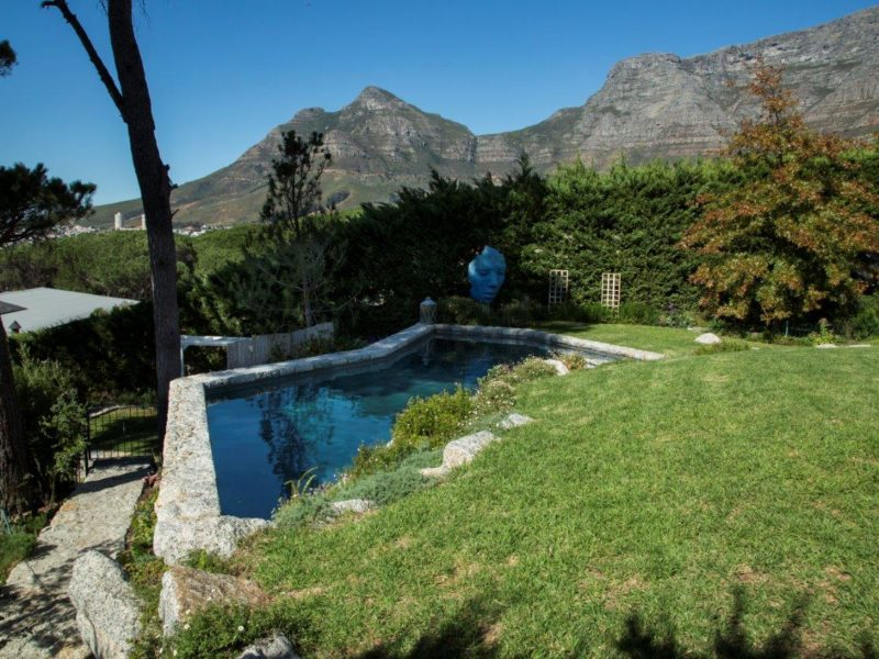The tranquil picture gives no clue of the many challenges faced with this pool build.