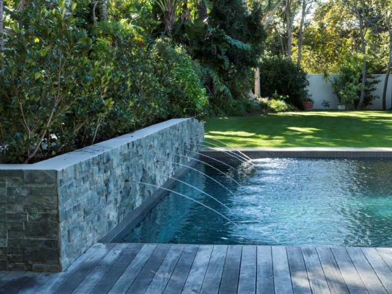 This pool also dispels the often thought downside of gunite - absolute destruction of the garden, the attached pictures proving that this is not the case.